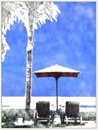 GIMP 雪景色