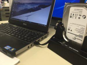 Seagate Desktop SSHD (2TB)をeSATAでvostro3350と接続