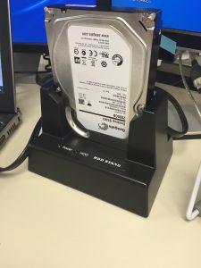 クレドールにセットした Seagate Desktop SSHD (2TB)