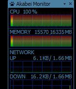 CPU、メモリともにMAX状態