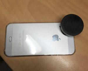 レンズとiPhone装着